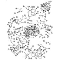 1984-1985 Chevy Corvette C4 Exhaust Manifolds Pair LH & RH 10046139 10046140
