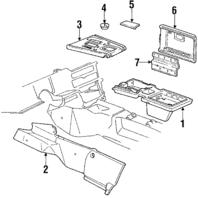 1990-1991 Corvette C4 Automatic Shift Plate Console Gray New 10085919