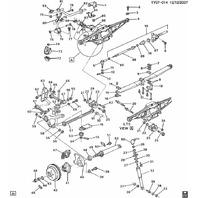 1989-96 Chevy Corvette C4 Rear Axle Control Arm Bracket W/Toe Bolt Used 10097802