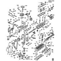 "1987 GM ""J"" Chassis LT2 4 Cylinder Throttle Body Drop Tube Kit New OEM 10106050"