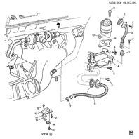 1993 -1995 Chevy Corvette ZR1 LT5 EGR Valve Manifold New ACDelco 10168634 219170