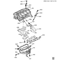1993-2005 GM 3.1L V6 Oil Pan Gasket New OEM 10182387