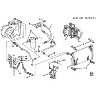 1994-95 Chevy Corvette C4 A/C Compressor Hose Suction & Discharge Used 10219090