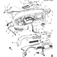 1997-2004 Chevy Corvette C5 HVAC Duct Dash Vent Used OEM 10229412