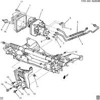 1998-2000 Chevy Corvette C5 Brake Control Module Mount Bracket Used 10284788