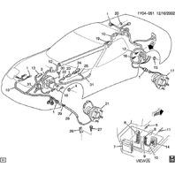 1997-04 Corvette C5 04-09 Cadillac XLR Electronic Brake Control Harness 10332527
