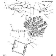 Cadillac XLR-V Upper Radiator Hose 19129885
