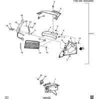 2000-04 Chevy Corvette C5 Left LH Headlight Actuator Motor New 10351396 19207407