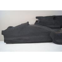 2004-2009 Cadillac XLR Rear Right RH Trunk Wall Carpet Panel Black Used 10352917