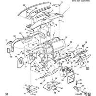 XLR Hush Panel Shale Under Steering Column Trim Knee Bolster