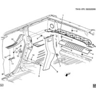 2006-2009 Hummer H2 SUV Rear End Lift Gate Sill Plate Gate Lock Ebony