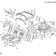 1997-2002 Chevy Corvette C5 Upper B Pillar Trim Panel Halo Panel Black 10401942