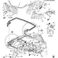 1998-2004 Chevy Corvette C5 Convertible Left B-Pillar Top Mount Bracket 10402798