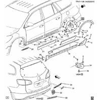 1997-2014 GM Side Door Rocker Panel Retainers 10pcs New OEM 10445899 10271516