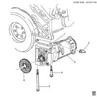 1992-1996 Chevy Corvette C4 Starter Used OEM Denso 10455709 10455702 10455703