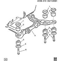 GM Suspension Bolt M14 X 2 X 105mm New OEM 11588419 11518694