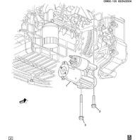GM Starter Flanged Hex Head Bolt New OEM M10 X 1.5 X 49mm 11610786 11588457