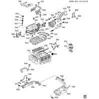 1990-1995 GM Intake Manifold Gasket Kit New Genuine GM OEM 12338840