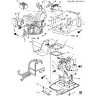 1992-95 Chevy Corvette C4 ABS Pump W/O Module Bosch Used OEM 12516323 0265212001