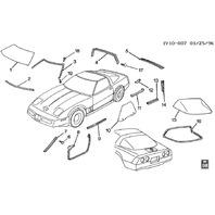 1991-1996 Chevrolet Corvette C4 Rear Hatch Window Glass Used Silver 12523677