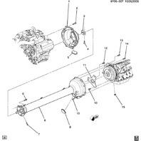 2006-2014 Corvette C5 C6 Cadillac XLR Torque Tube Inspection Cover Plug 12551987