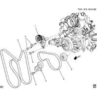 Serpentine Belt Tensioner GM 1999-2017 Hummer Tahoe Used OEM 12554027 12609719