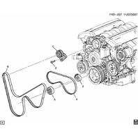 2005-2012 Chevy Corvette C6 A/C Compressor Belt New OEM 12579228 12636225