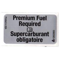 Genuine GM OEM - Premium Fuel Required Label Sticker Decal