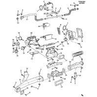 1984-1989 Chevy Corvette C4 HVAC Center Distribution Duct Used OEM 14044411