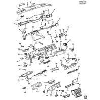 1984-1989 Chevy Corvette C4 Passenger Dash Crash Pad Trim Black Used 14046646