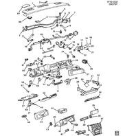 1984-1985 Chevy Corvette C4 Instrument Cluster Trim Panel Used Black 14047529