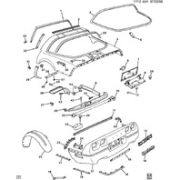 1984-96 Chevy Corvette C4 Rear Cargo Sunshade Left LH Catch Latch Used 14049015