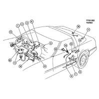 1986-1989 Chevy Corvette C4 Center Dash Relay Fuse Box Used 14093116 14087695
