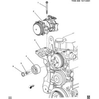 Topkick Kodiak A/C Compressor Drive Belt Idler Pulley New OEM 89022559 15008840
