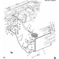 2003-2009 Hummer H2 AC Compressor Condenser Hose Line ACDelco #15-32239 15057977