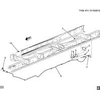 2003-2009 GMC Topkick Chevy Kodiak C6500-C8500 Trailer Wiring Harness 15173142