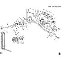 2003-2009 Topkick/Kodiak C4500 Heater Hose Assembly Black Rubber New 15174501