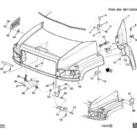 2003-2009 Hummer H2 / GMC Topkick Chevrolet Kodiak Hood Latch 15186697