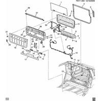 2005-09 Hummer H2 SUT XUV Midgate Mid Gate Striker Latch 15204480 15764015
