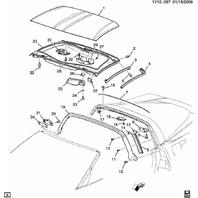 2005-2013 Chevy Corvette C6 Right RH Roof Bracket Used OEM 15218382 15779604