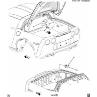 2005-13 Corvette C6 Targa Top Mount Holders Pair LH & RH Used 15218385 15218384