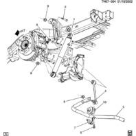 2008-2009 Hummer H2 Rear Stabilizer Sway Bar 15240964 New(OFF ROAD SUSP PKG ZM6)