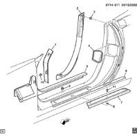 2007-09 Cadillac XLR Door Opening Trim Cashmere Right Side Lower Pillar 15269321