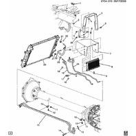 2006-2009 Cadillac XLR 4.4L V8 Auto Transmission Oil Cooler Hose Pipe 15292031