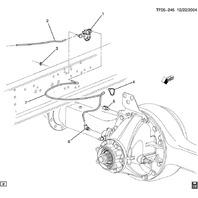04-09 GMC T6500-T8500 Rear Diff Lock Control Valve Solenoid 15296483 15186703