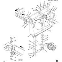 1990-2009 GMC Topkick/Chevy Kodiak Front Rear Suspension Bump Stop Bolt 15654658