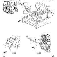 1997-09 GMC Topkick/Chevy Kodiak Heater Hose Water Bypass 15MM ID. 15717882