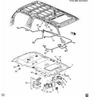 1999-13 GM Dome Light Reading Lamp Assy Oak Tan New OEM 15765708 VC9625 15044369