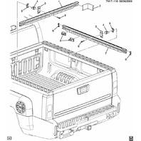 2009-2010 Hummer H3T Truck Box Cargo Rail Nut New OEM 15793832 25788953
