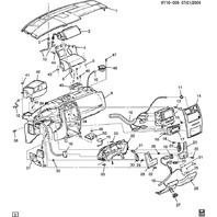 2004-2009 Cadillac XLR RH Ebony Plastic Engine Start Button Bezel Panel 15793858